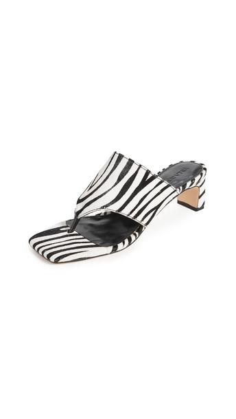 Villa Rouge Danica Square Toe Sandals in black / white