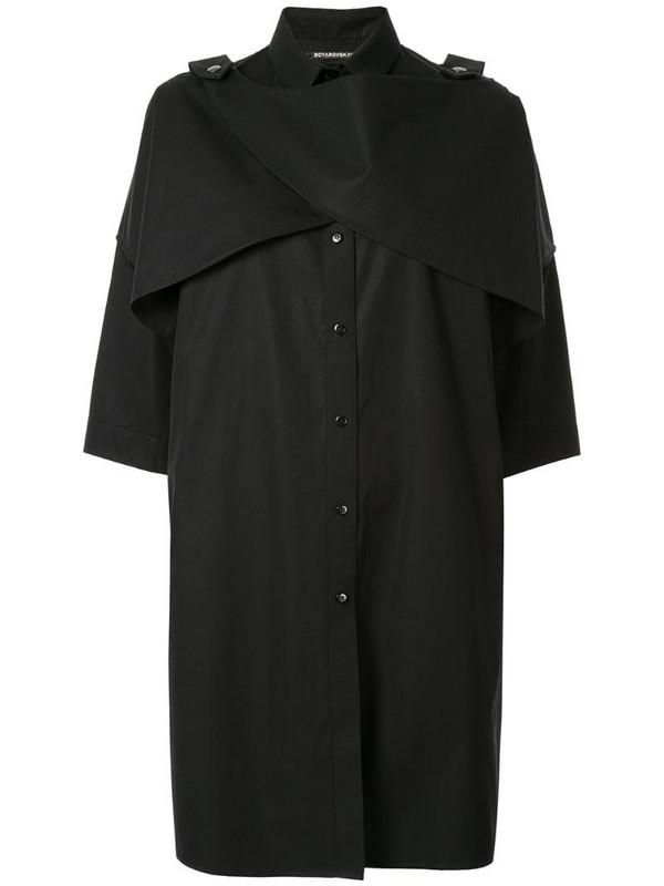Boyarovskaya oversized shirt dress in black
