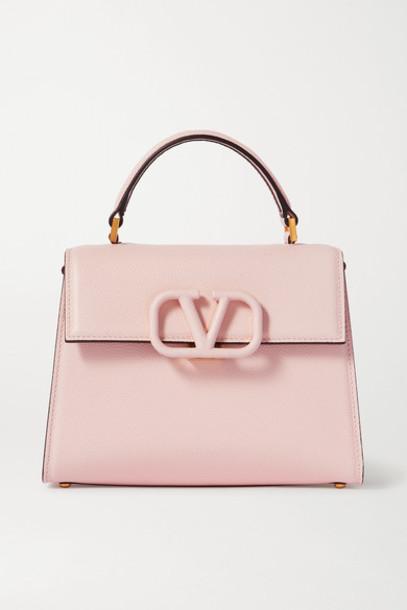Valentino - Valentino Garavani Vsling Small Textured-leather Shoulder Bag - Pink