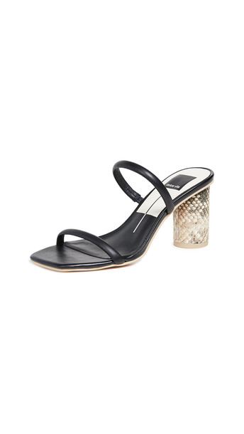 Dolce Vita Noles Double Strap Slides in black