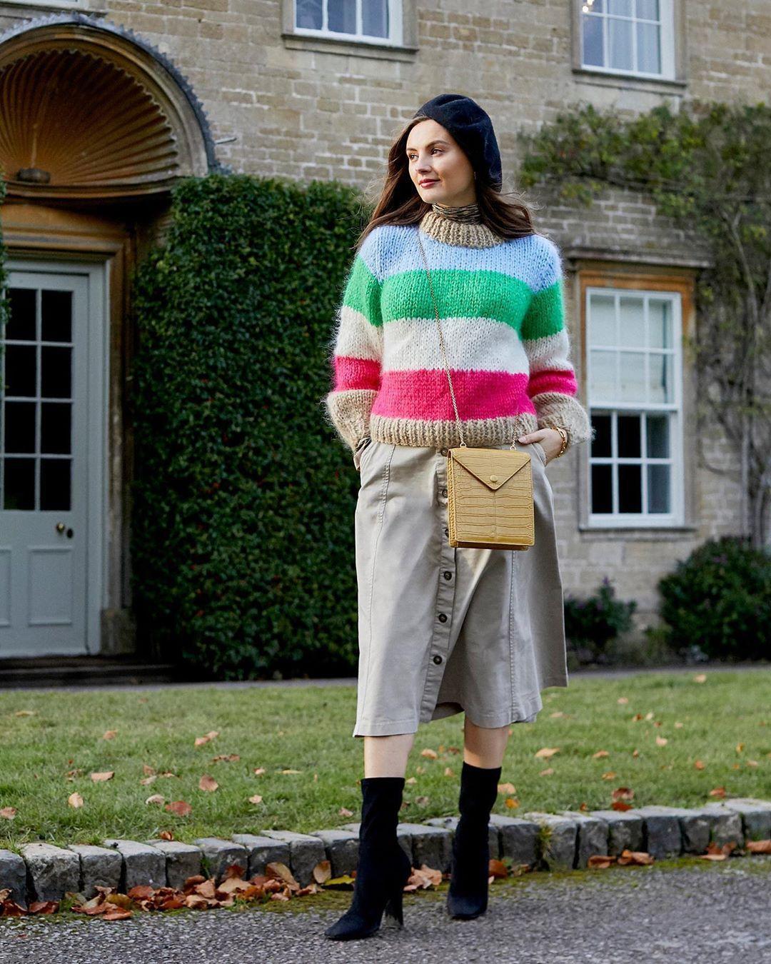 skirt bag sweater
