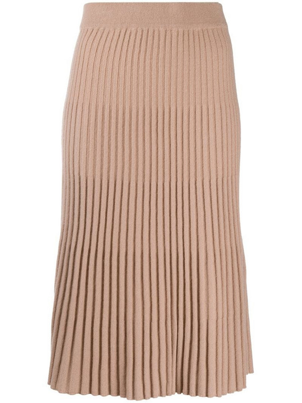 N.Peal high-waisted ribbed skirt in pink