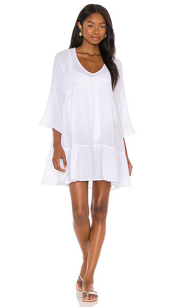 Seafolly Double Cloth Cover Up Dress in White