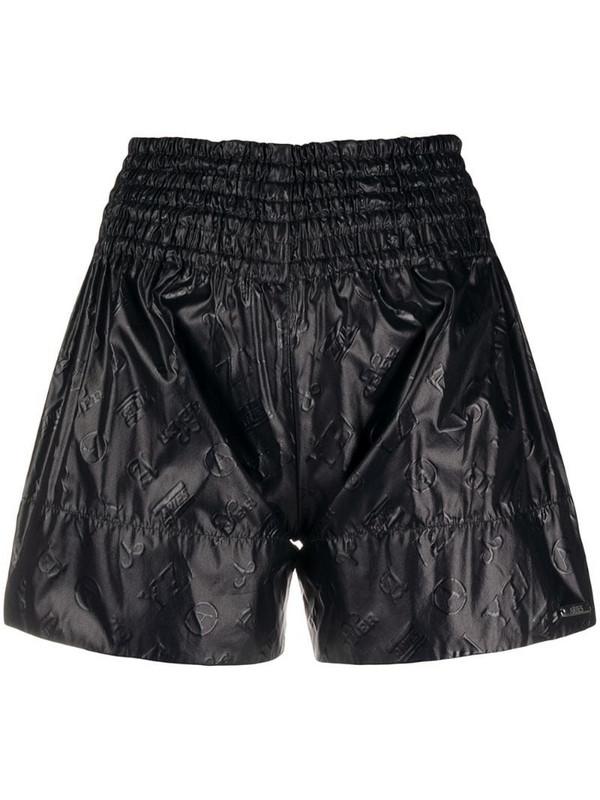 Aries repeat logo shorts in black