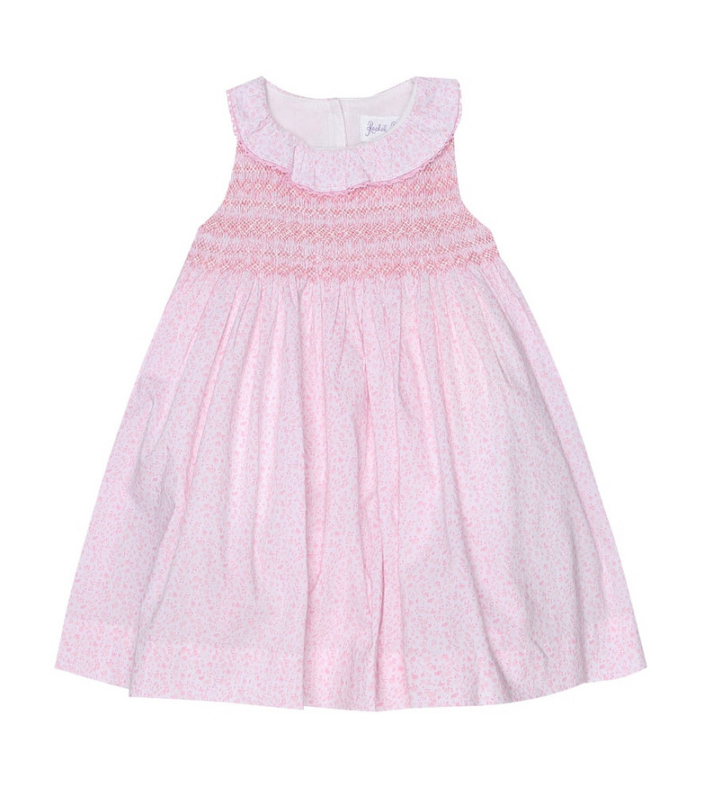 Rachel Riley Baby floral cotton dress and bloomers set in pink