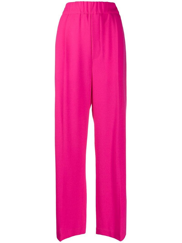 Jejia high-waisted palazzo pants in pink