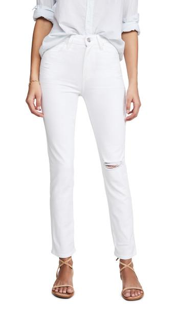 PAIGE Sarah Slim Jeans in white
