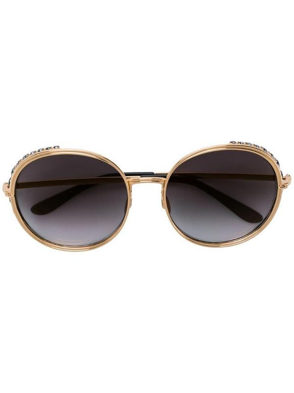 Elie Saab oversized round shape sunglasses in metallic