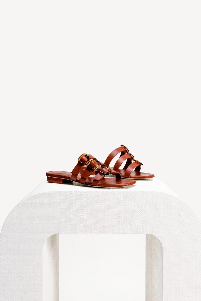 Cult Gaia Tallulah Sandal - Amber                                                                                               $298.00