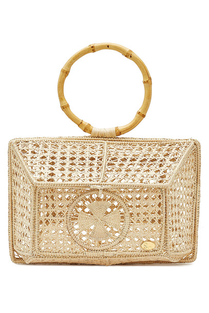 Soraya Hennessy The Camila Basket Handbag  in beige