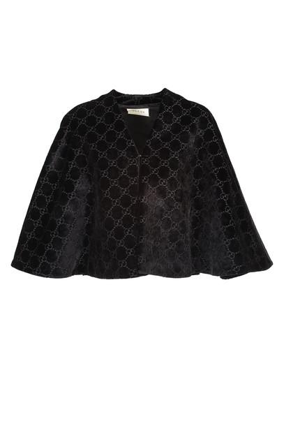 Gucci Black GG velvet cape