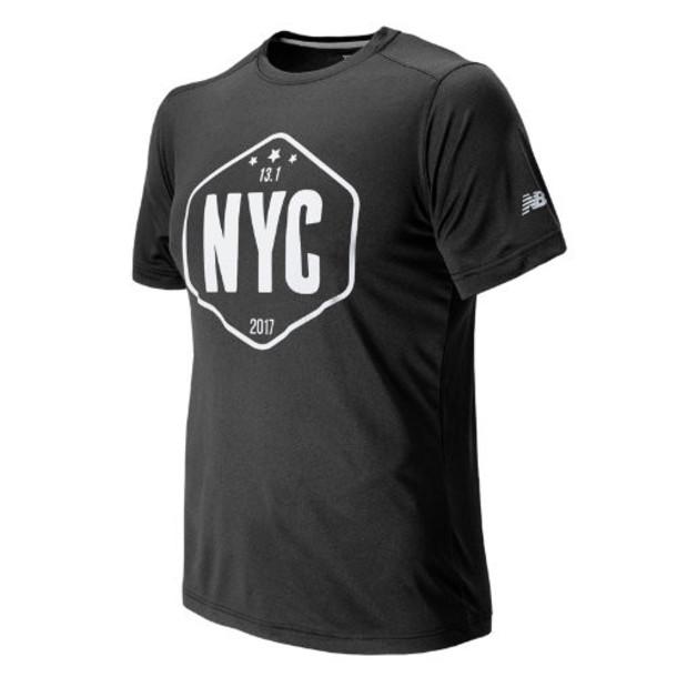 New Balance 71608 Men's United NYC Half Sign Tee - Grey (MT71608VBCH)