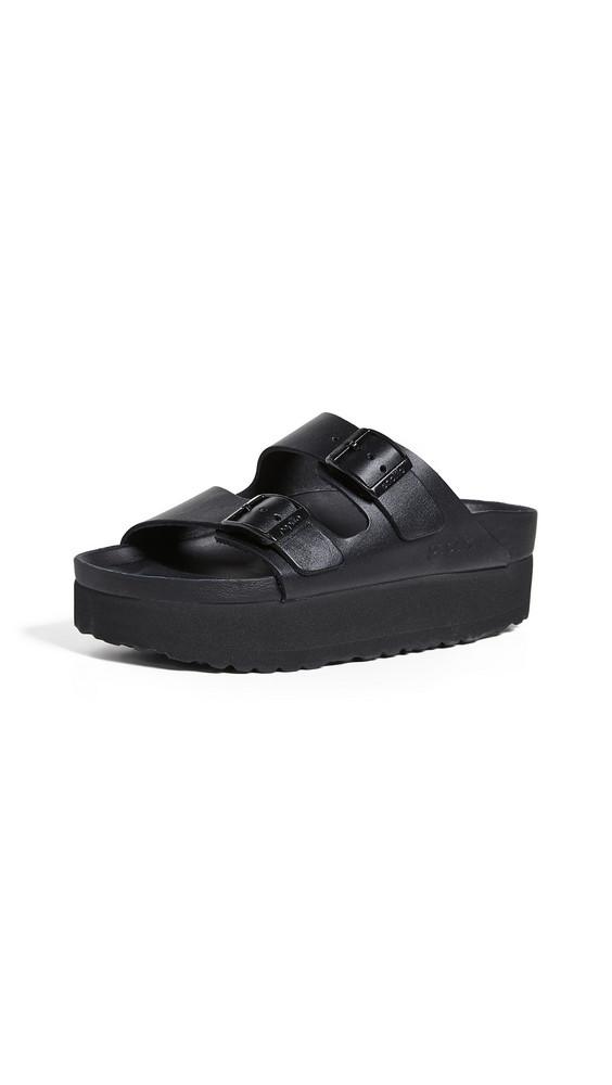 Birkenstock Arizona Platform Exquisite Sandals in black