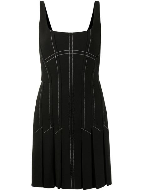 Dion Lee contrast stitch mini skirt in black