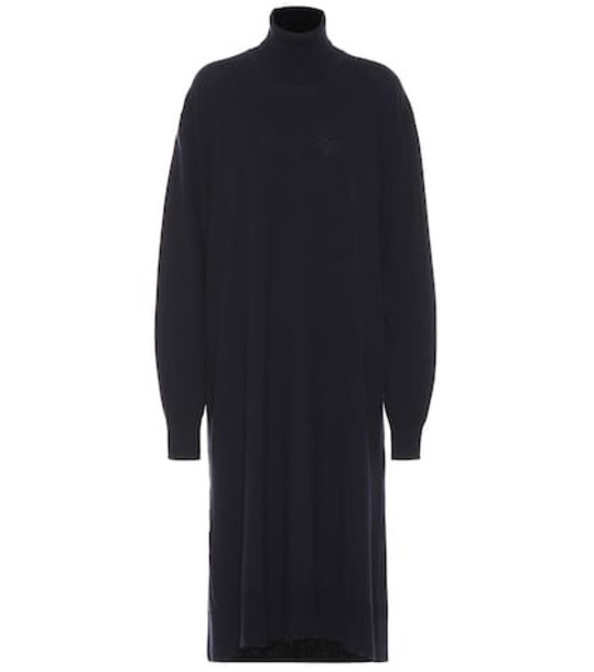 Jil Sander Wool and cashmere sweater dress in blue
