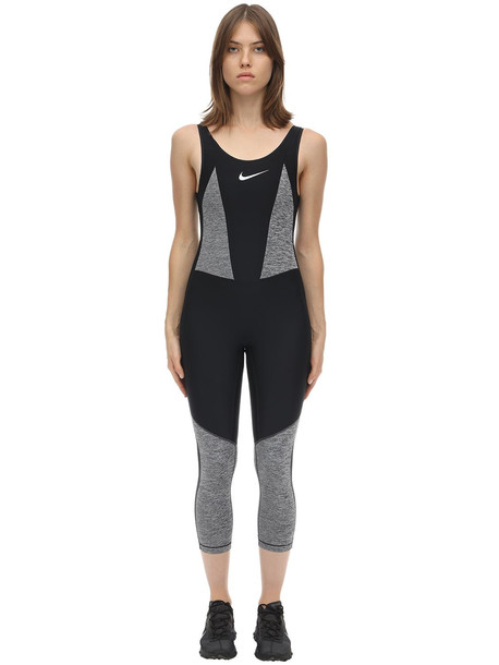 NIKE Studio Body Suit in black / grey