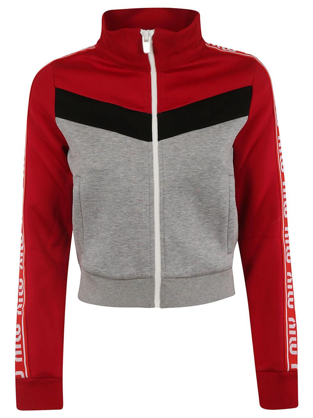 Miu Miu Paneled Jacket in grey