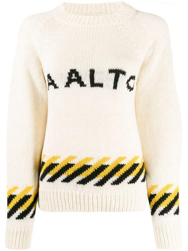 Aalto logo crew-neck jumper in neutrals