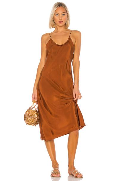 ANAAK Scarlette Slip Dress in brown