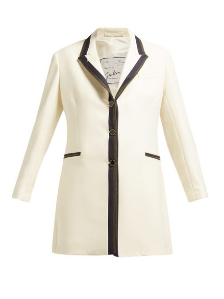 Giuliva Heritage Collection - The Karen Single Breasted Wool Blazer - Womens - White Multi
