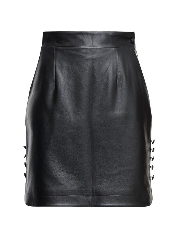 MATÉRIEL High Waist Faux Leather Mini Skirt in black