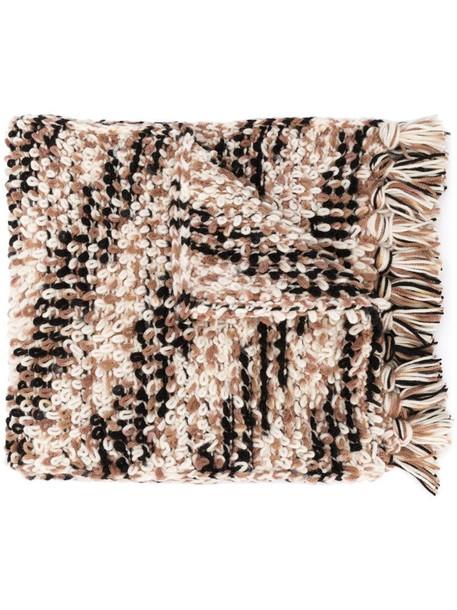 Missoni loop-knit scarf in brown