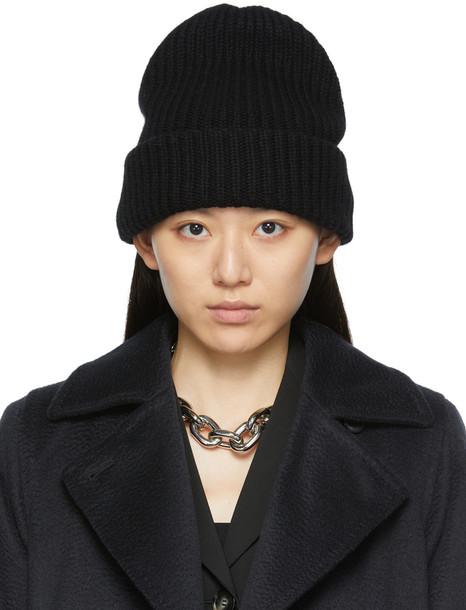 Max Mara Black Knitted Cashmere Beanie
