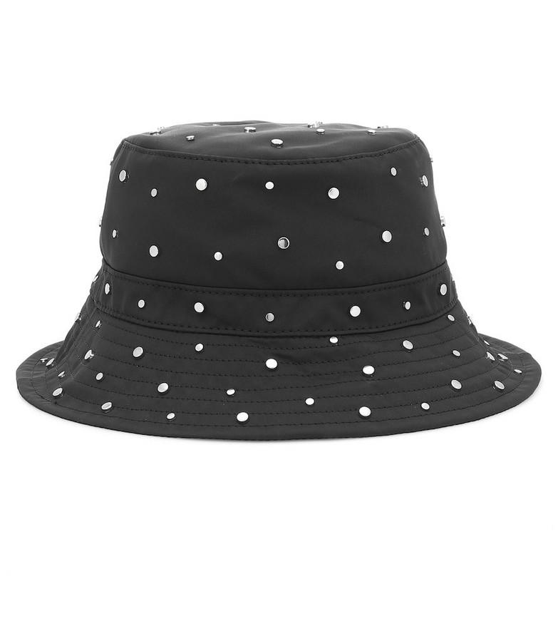 Ganni Studded bucket hat in black