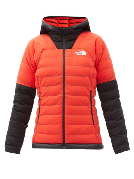 The North Face - Summit Quilted Down Hooded Jacket - Womens - Red Multi