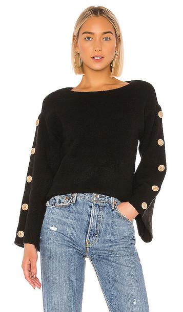 Tularosa Trento Button Sweater in Black