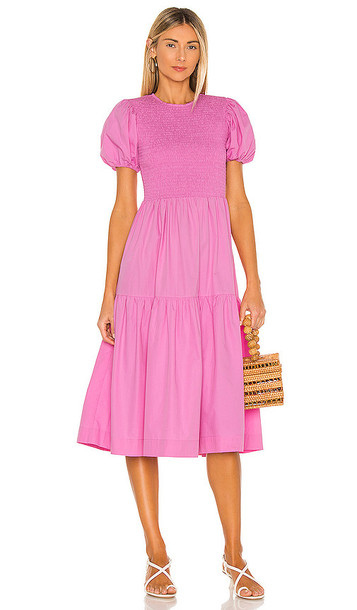 SWF Puff Sleeve Dress in Pink