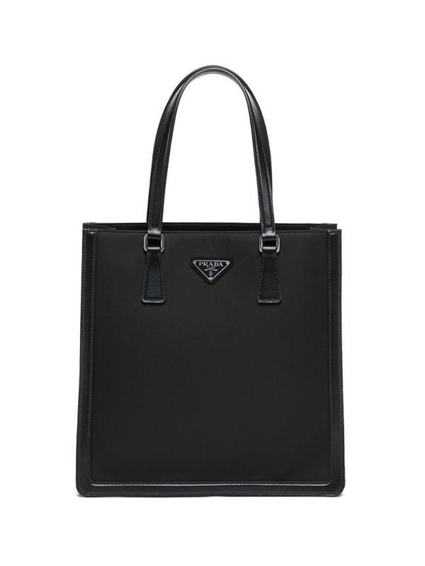 Prada leather tote bag in black