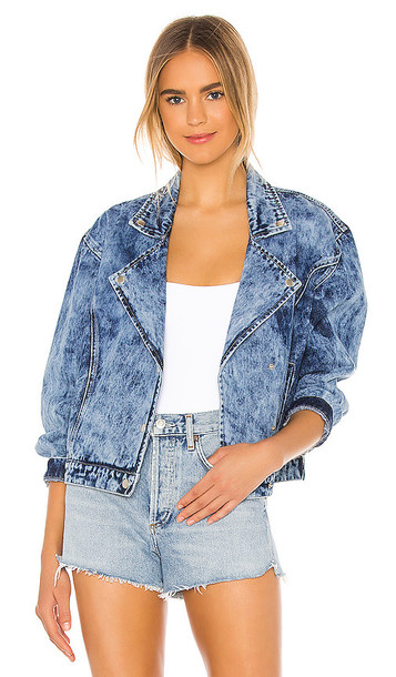 superdown Rumi Denim Moto Jacket