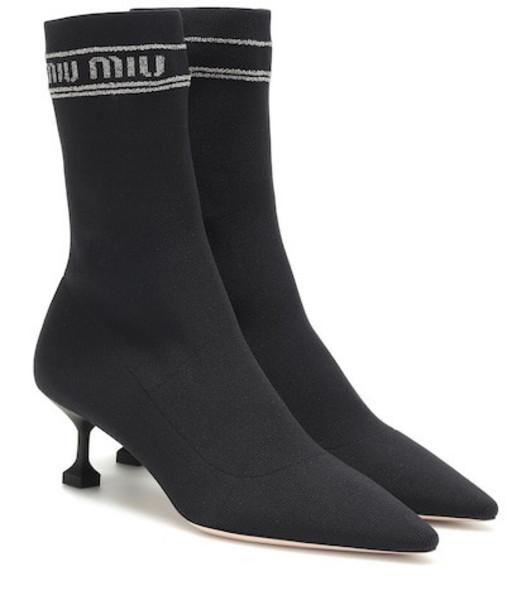 Miu Miu Sock boots in black