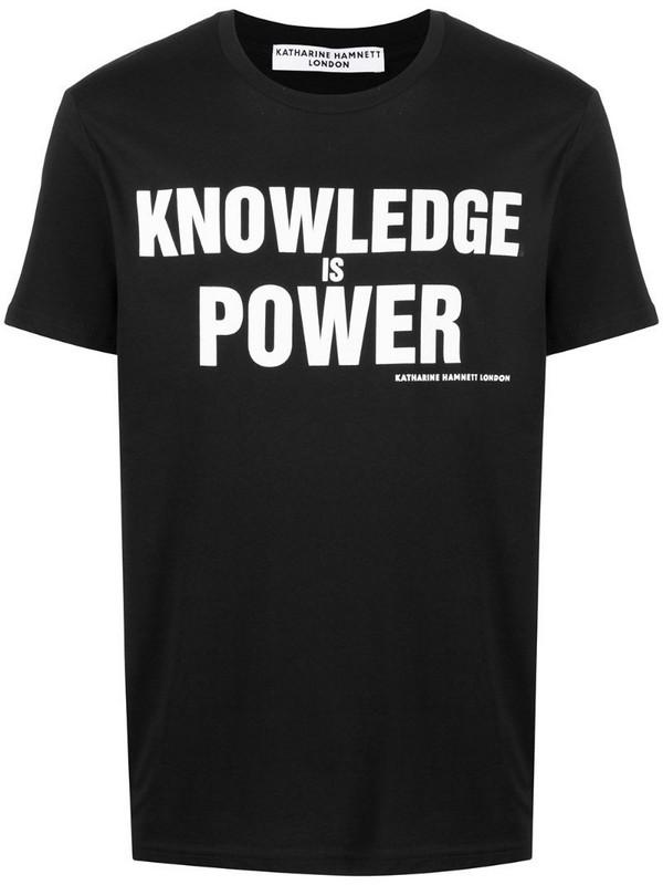 Katharine Hamnett London slogan print organic cotton T-shirt in black