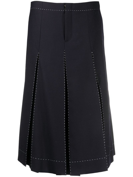 Maison Margiela pleated mid-length skirt in blue