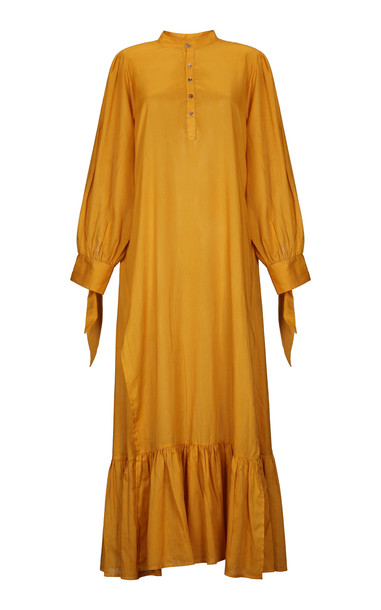 Escvdo Nima Cotton Voile Tunic in yellow