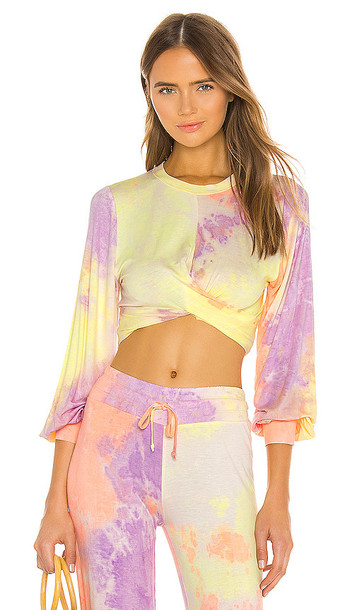 BEACH RIOT Marley Crop Top in Yellow