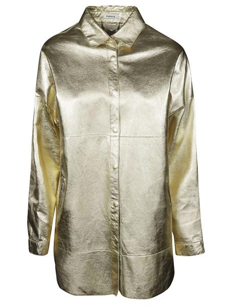 Parosh P.a.r.o.s.h. Oversized Shirt in gold