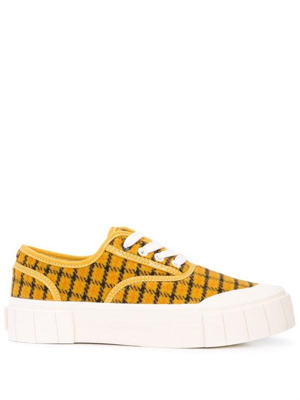 Good News Softball plimsoll sneakers in yellow