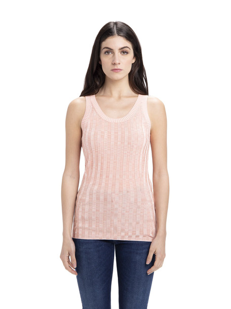 Acne Studios Knitted Tank Top in peach