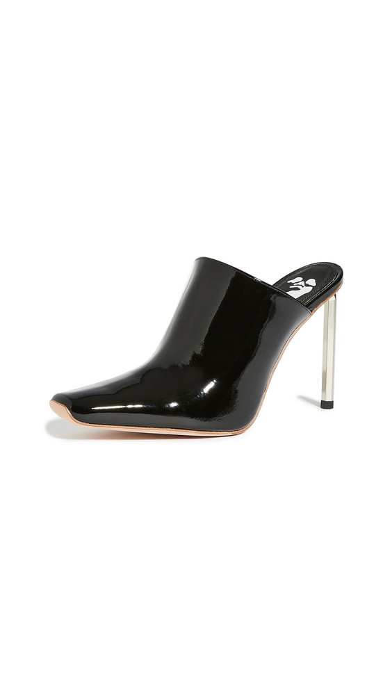 Off-White Patent Allen Sabot Mules in black