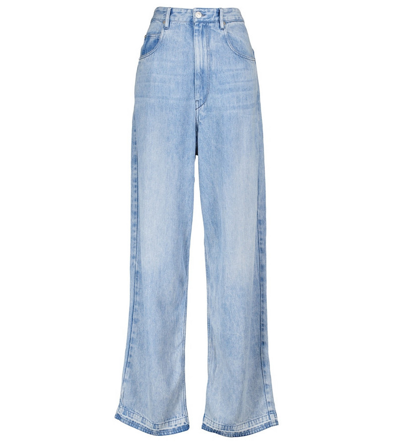 Isabel Marant, Étoile Tilorsy high-rise wide-leg jeans in blue