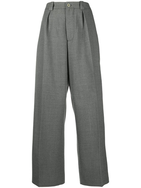 Marni high-waisted wool trousers in grey