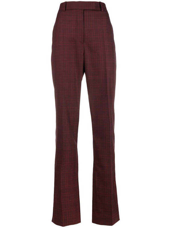 Calvin Klein 205W39nyc plaid trousers in red