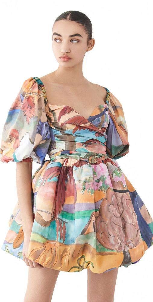 Stella Jean Bubble Hem Dress in multi
