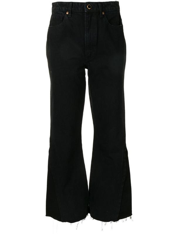 Khaite high-waist flared jeans in blue