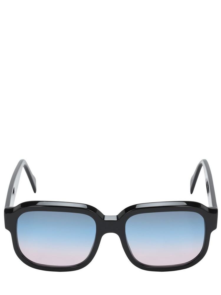 ANDY WOLF John Oversize Squared Acetate Sunglasses in black / multi