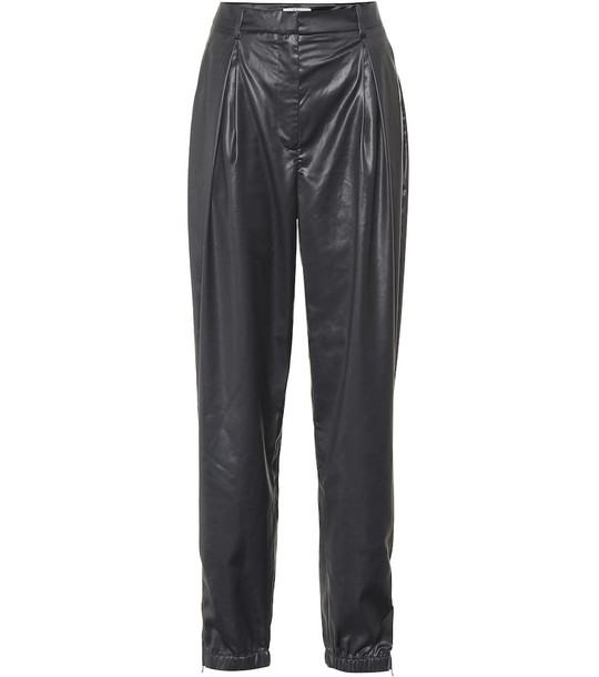 Tibi High-rise straight pants in black