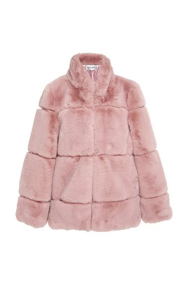 Apparis Sarah Faux Fur Jacket Size: S in pink